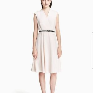 NWT Calvin Klein Whita fit & flare belted dress 10
